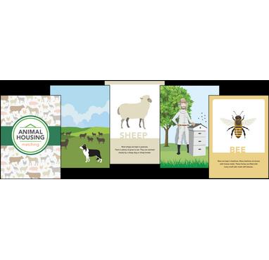 Animal Housing Matching Cards