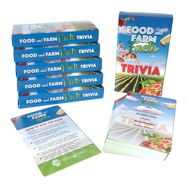 Food And Farm Facts Trivia Cards