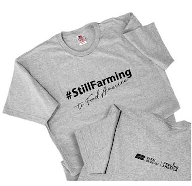 #StillFarming Tee, size extra large